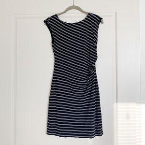 LOFT Black Stripe Dress